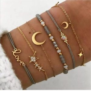 ❗️NEW❗️Stunning boho moon beaded bracelet set (6)